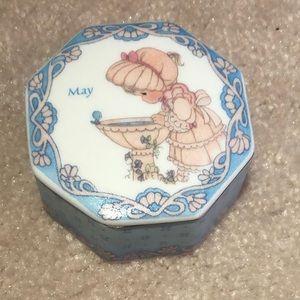 Precious Moments May Porcelain Trinket Box